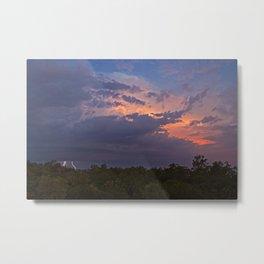 Darwin Thunderstorm-Sunset. Metal Print