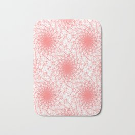 Pink And White Rotation Bath Mat