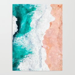 Beach Illustration Poster