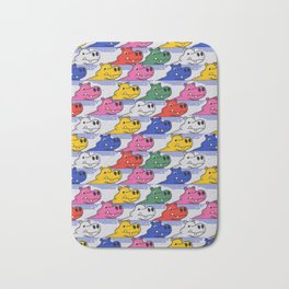 Hippos pattern no2 Bath Mat