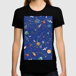 Space Rocket Pattern T-shirt