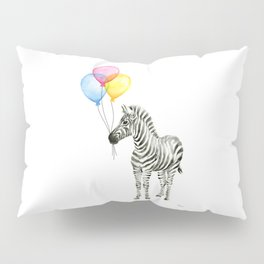 Zebra with Balloons Baby Animal Pillow Sham