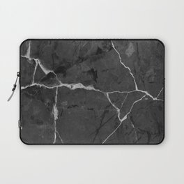 Black minimal marble Laptop Sleeve