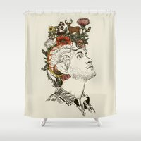 will graham Shower Curtains featuring This Is My Design by Huebucket