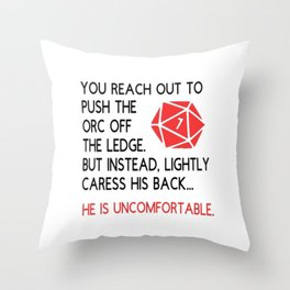 Dungeons and dragons gift Throw Pillow