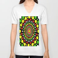 rasta V-neck T-shirts featuring Rasta by Liqrush