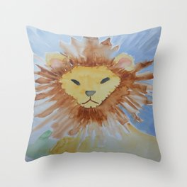 Abstract Lion 2 Throw Pillow