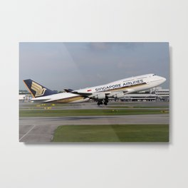 Singapore Airlines and the final B747 pasenger aircraft Metal Print