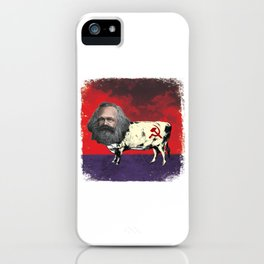 COW MARX - FATHER OF BOVINE COMMUNISM iPhone Case