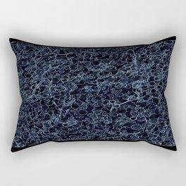 Flower | Flowers | Blue Leaf Vine on Black Rectangular Pillow