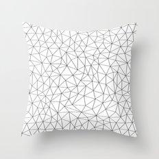 Low Pol Mesh (positive) Throw Pillow