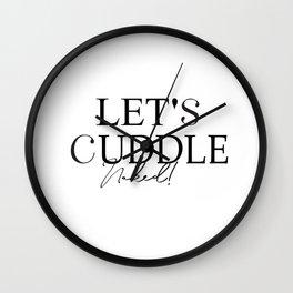 caresse,  câlin nu ,Naughty Valentine's Day Card For Him Wall Clock