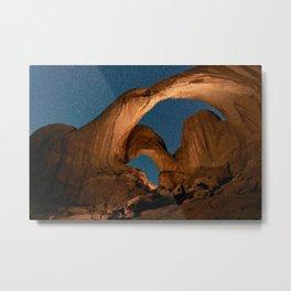 Double  Arch  - Nature Window in Utah Metal Print