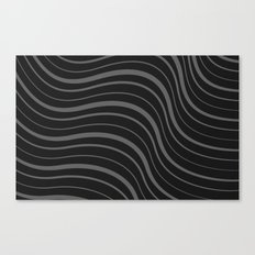 Organic Stripes #02: Monochrome version Canvas Print