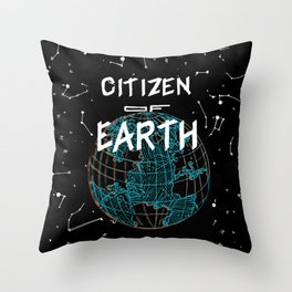Citizen of Earth Throw Pillow