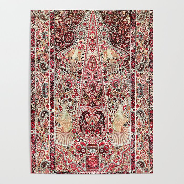 Kerman South Persian Rug Print Poster