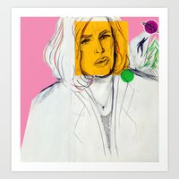 dana scully Art Prints featuring Dana Scully by Alyssa Taylor