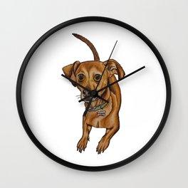 Maxwell the dog Wall Clock