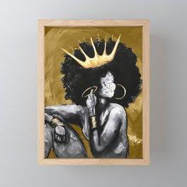 Naturally Queen VI GOLD Framed Mini Art Print