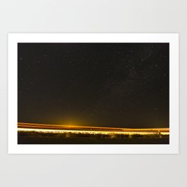 Light Trails Art Print