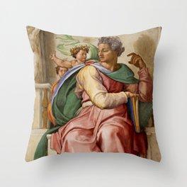 """Michelangelo """"Prophet Isaiah"""" Throw Pillow"""