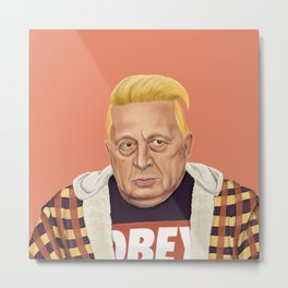 The Israeli Hipster leaders - Ariel Sharon Metal Print