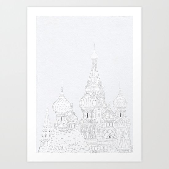 St Basil's Cathedral Art Print
