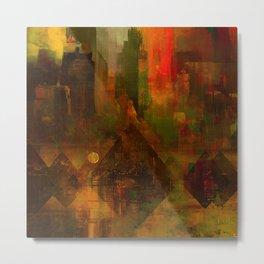 Pyramidal city Metal Print