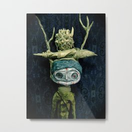 a portrait Metal Print