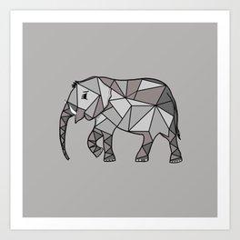 Elephant Simple Geometric Art Print