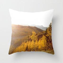 The Golden Fire Just Before Sunset Throw Pillow