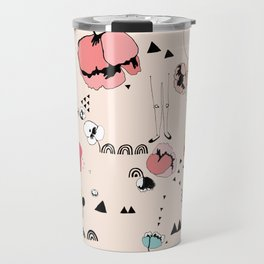 Poppies Print Travel Mug