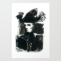 napoleon Art Prints featuring napoleon by Chuchuligoff