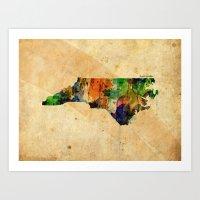 north carolina Art Prints featuring North Carolina by TiannaHarman