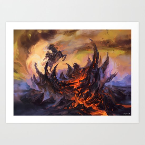 Lavaclaw Reaches Art Print
