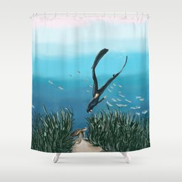 Turtle Encounters Shower Curtain