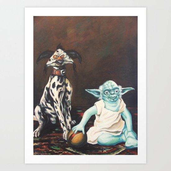 Yoda and a Salacious Dalmation  Art Print
