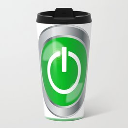 Engine Start Button Travel Mug