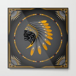 Honor and Strength Yellow Metal Print