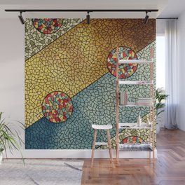 Shiny Buttons Wall Mural