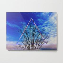 Barren Tree Abstract Metal Print
