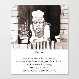 Furious Limerick Canvas Print
