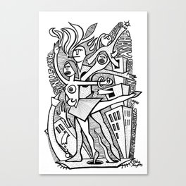Unreality Tango - popcore 05 Canvas Print