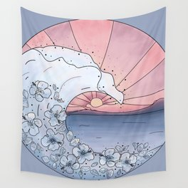 Flower Wave Wall Tapestry