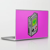 gameboy Laptop & iPad Skins featuring Gameboy Love by Artistic Dyslexia
