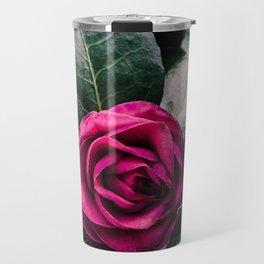 Purple Camellia Travel Mug