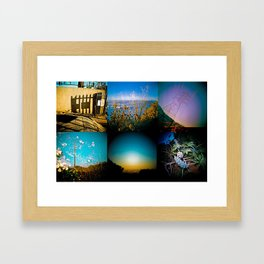Hiking in Los Angeles Framed Art Print