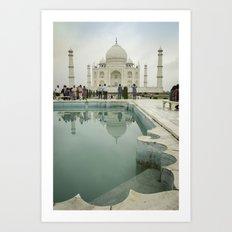 Azure Pools at the Taj Art Print