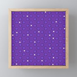 Purple flowers on purple Framed Mini Art Print