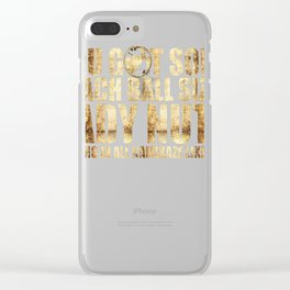 Beach Ball Sized Lady Nuts Clear iPhone Case